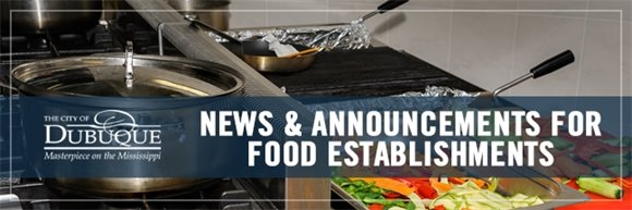 News & Announcements For Food Establishments