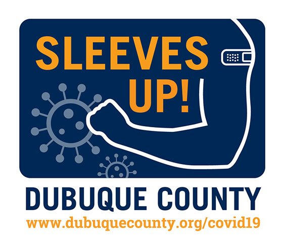 Dubuque County Sleeves Up! Logo