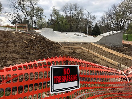 Photo of Skate Park Construction Site