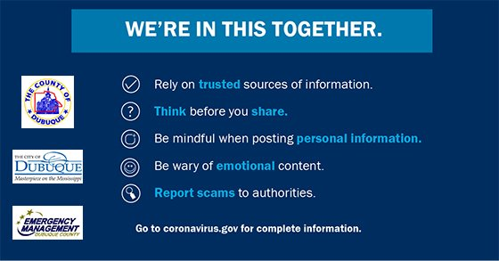 """""""We're in this together"""" Graphic: Rely on Trusted Sources of Information"""