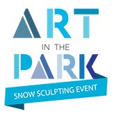 Art in the Park Snow Sculpting Event Logo