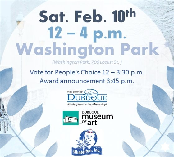 Saturday Feb 10th, 12-4pm @ Washington Park