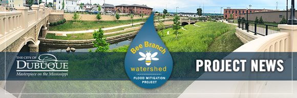 Bee Branch Project News Header Graphic