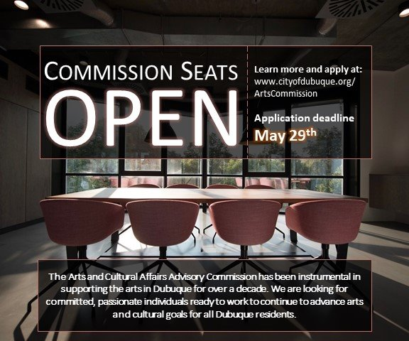 Commission Seats Open, Apply now!