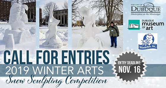 Snow Sculpting Competition Call for Entries Graphic