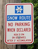 Snow Route Sign Photo