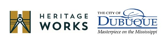 Heritage Works and City of Dubuque Logos