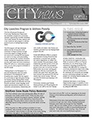 Page 1 Graphic of City News Newsletter
