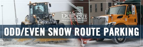Odd Even Snow Route Parking Graphic