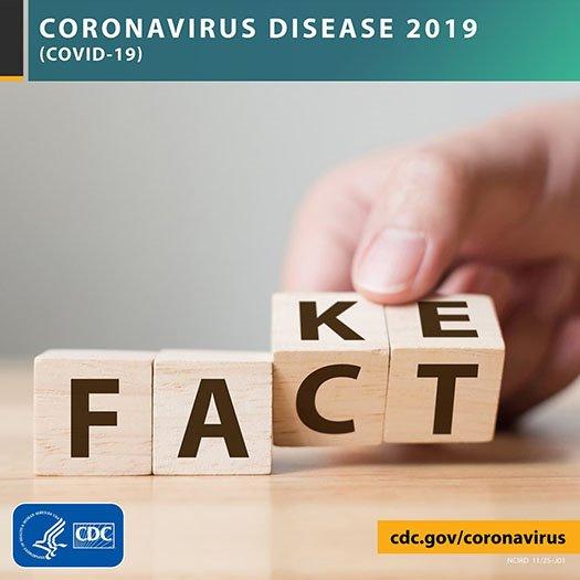CDC Graphic on COVID-19 Fact vs. Fake