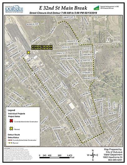 Detour Map Graphic