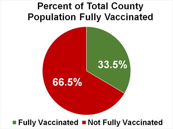 Chart of Percent of Total County Population Fully Vaccinated