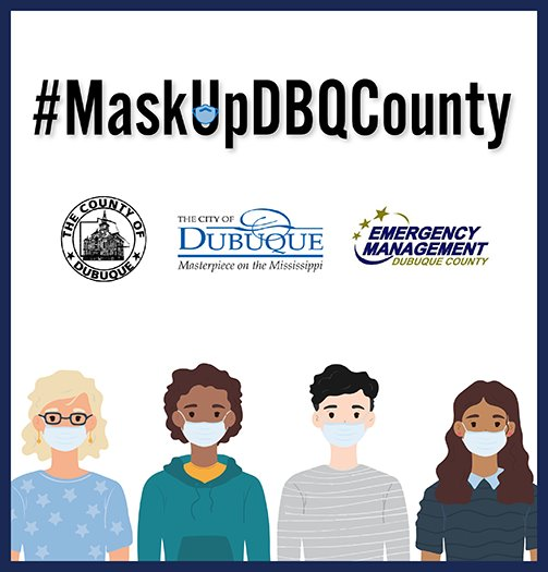 Mask Up Dubuque County Graphic
