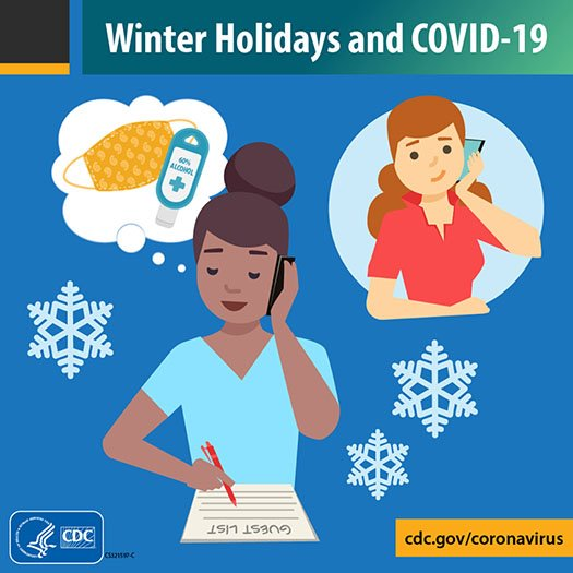 Winter Holidays and COVID-19 Graphic