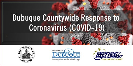Dubuque Countywide Response to COVID-19 Graphic