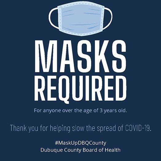 Masks Required Graphic - Dubuque County
