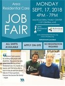 Area Residential Care Job Fair