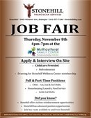 Job Fair for Stonehill Franciscan Services