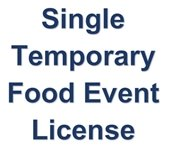 Single Temporary Food Event License