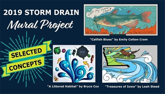 2019 Storm Drain Mural Project Selections