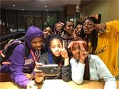 MFC Teen Night Ladies at Kitchen Counter