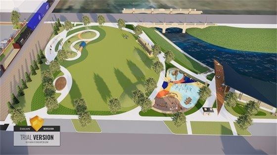 Outdoor Recreational Space Concept Rendering