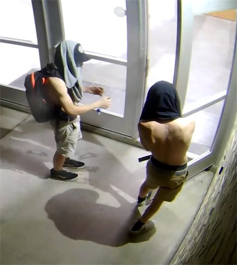 Two suspects in vandalism case