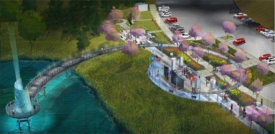 Chaplain Schmitt Island Veterans Memorial Improvements Rendering