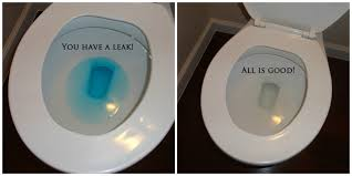 showing dye results in checking for a leaky toilet