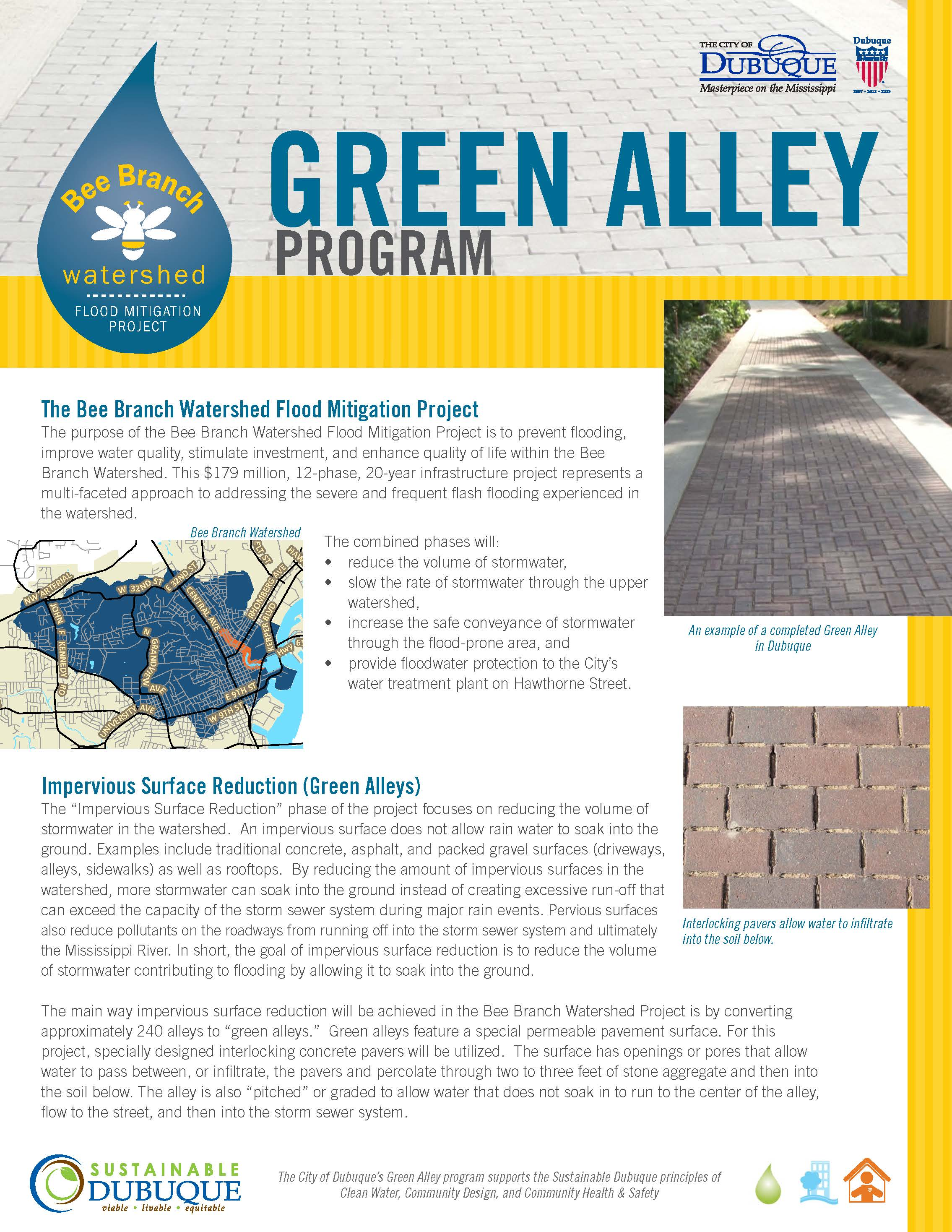 Green Alley Program Brochure Thumbnail