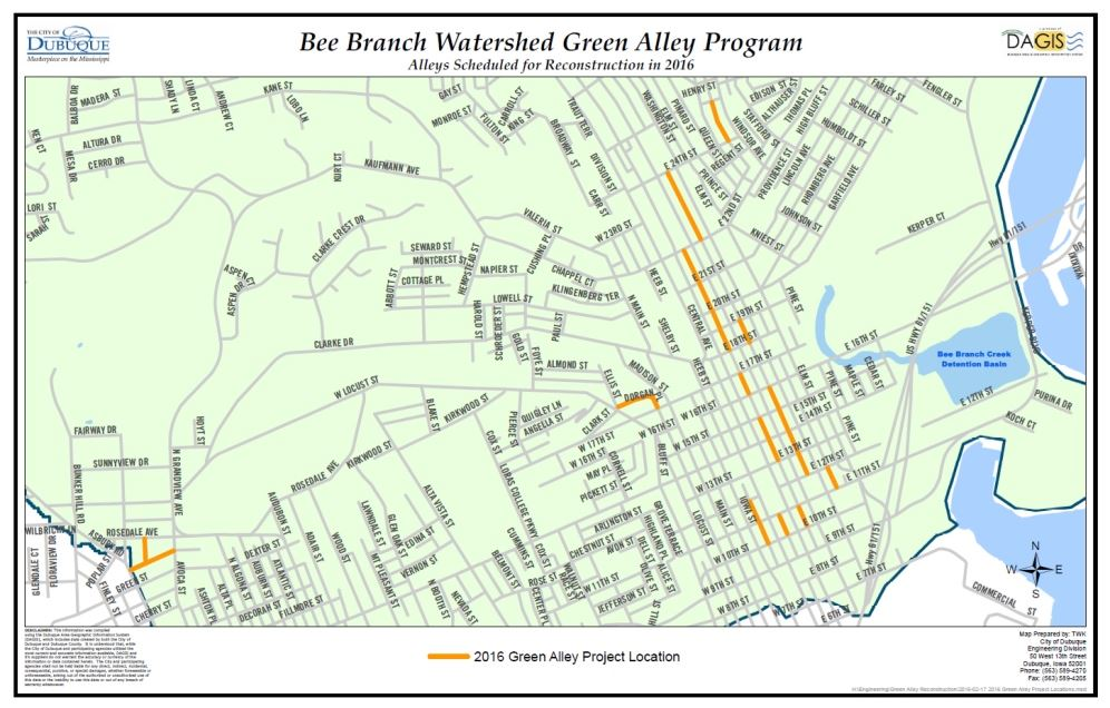 2016 Green Alley Locations Map Image