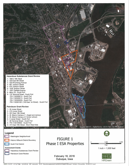 Phase I ESA Properties Map