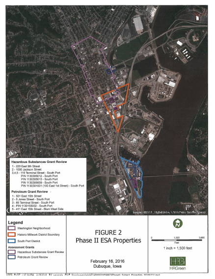 Phase II ESA Properties Map