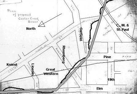 Original Bee Branch Sewer Plan 1900