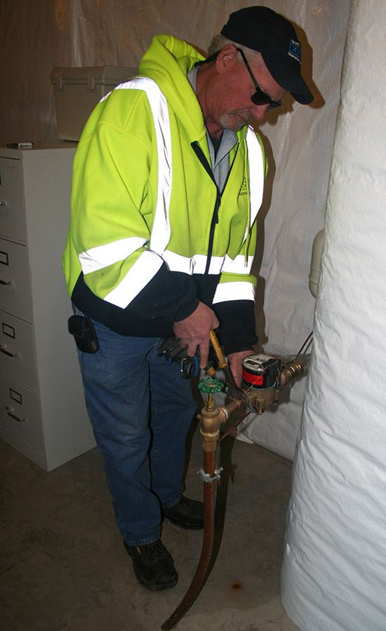 Water meter installation