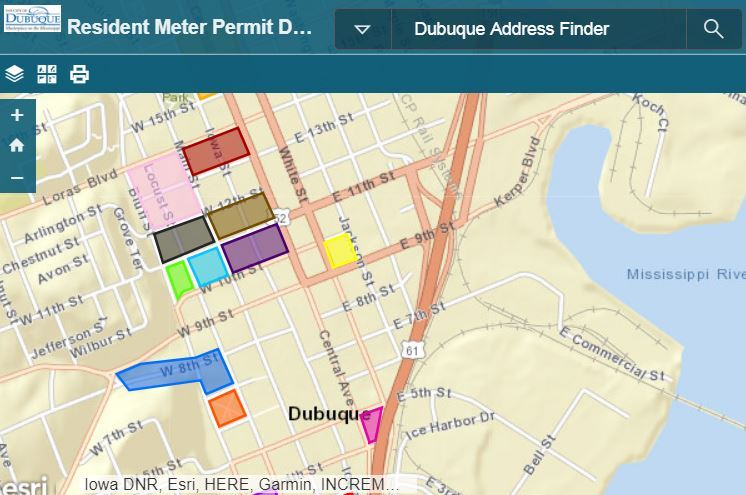 Resident Meter Permit District Map