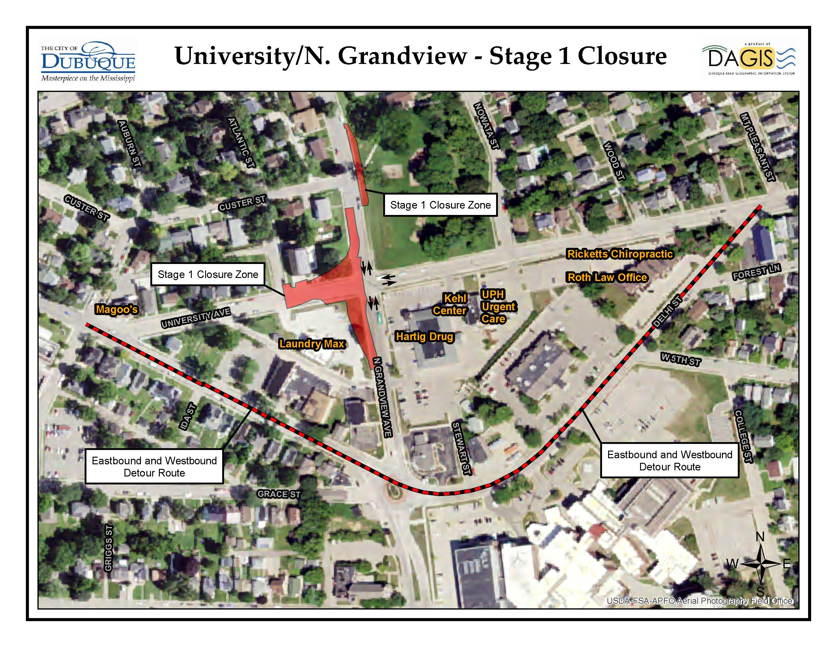 University Grandview Stage 1 Closure Press Release Map