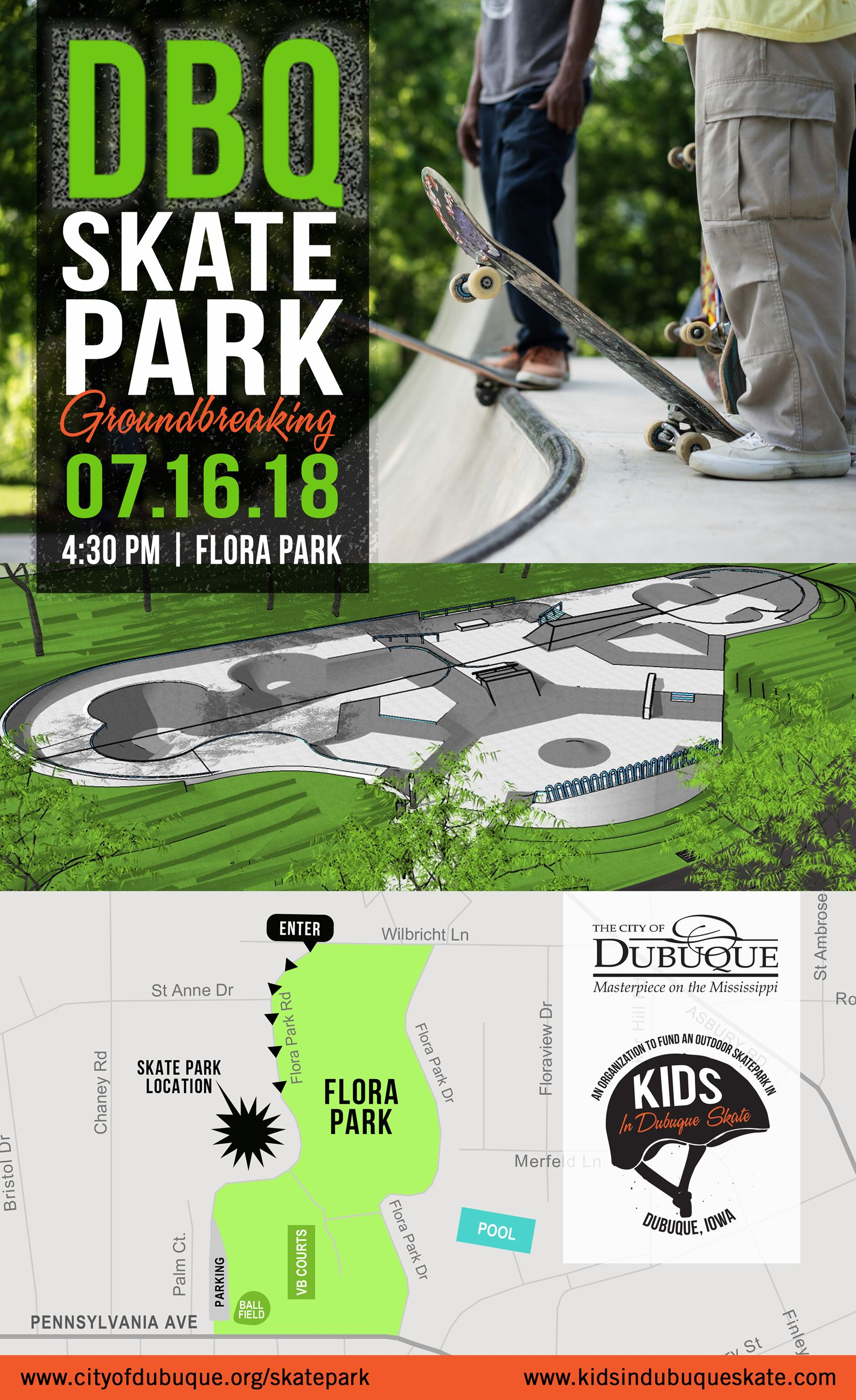 Skate Park Groundbreaking Invitation