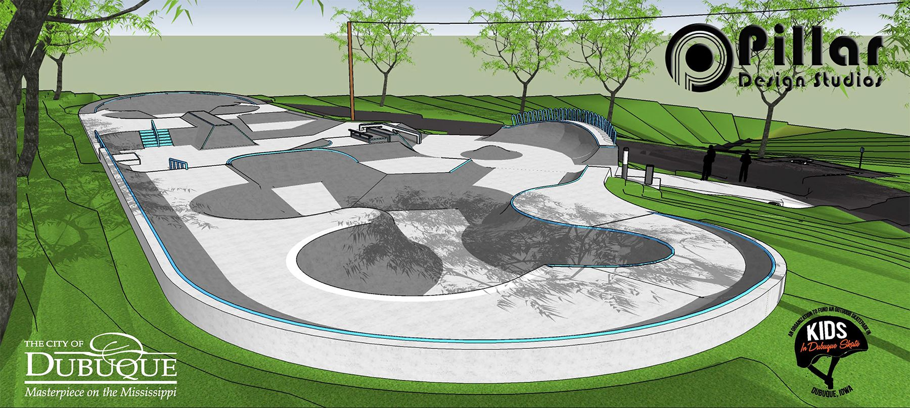 City of Dubuque Skate Park Rendering 1