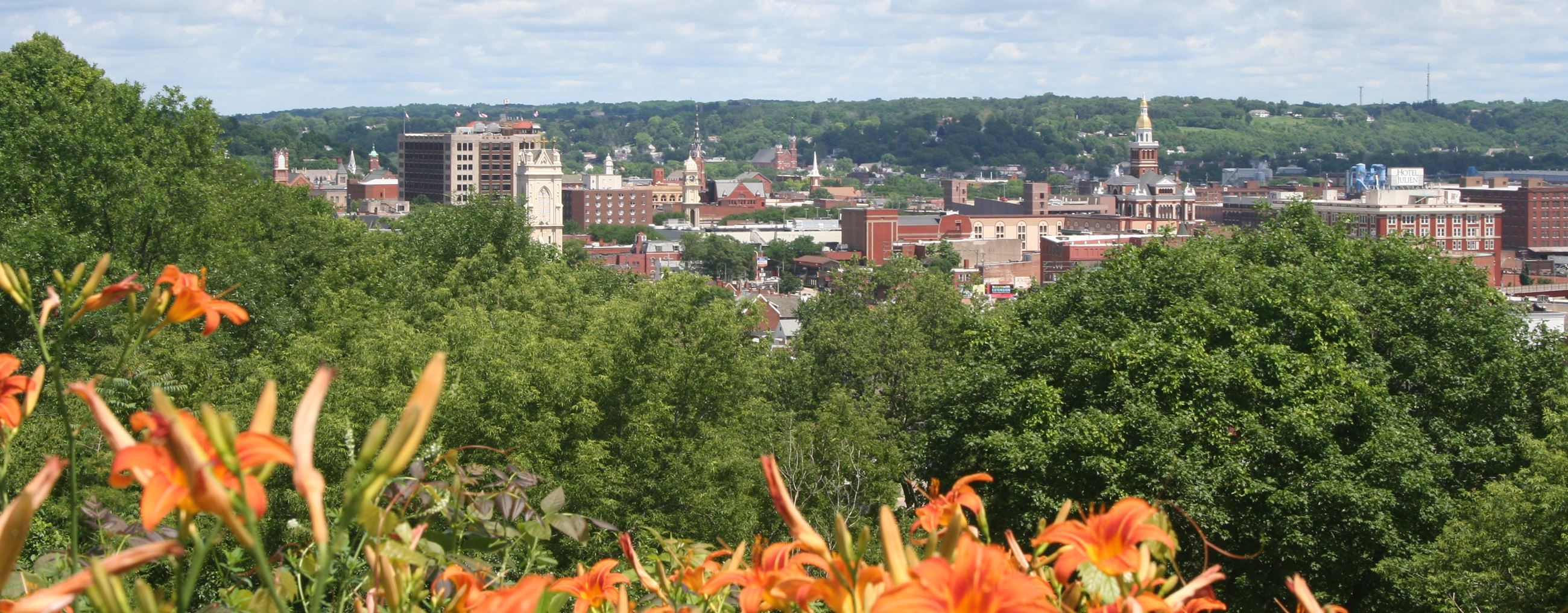 A beautiful view of Dubuque