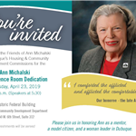 Ann Michalski Conference Room Dedication Invitation Graphic