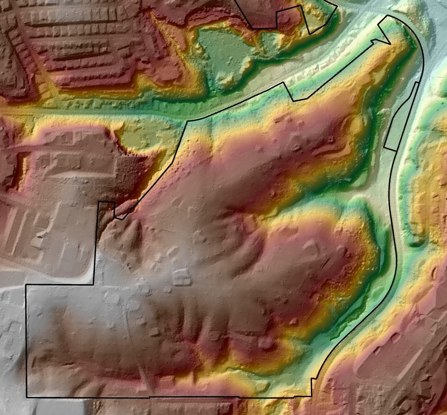 Bunker Hill Shaded Relief - it really IS hilly!