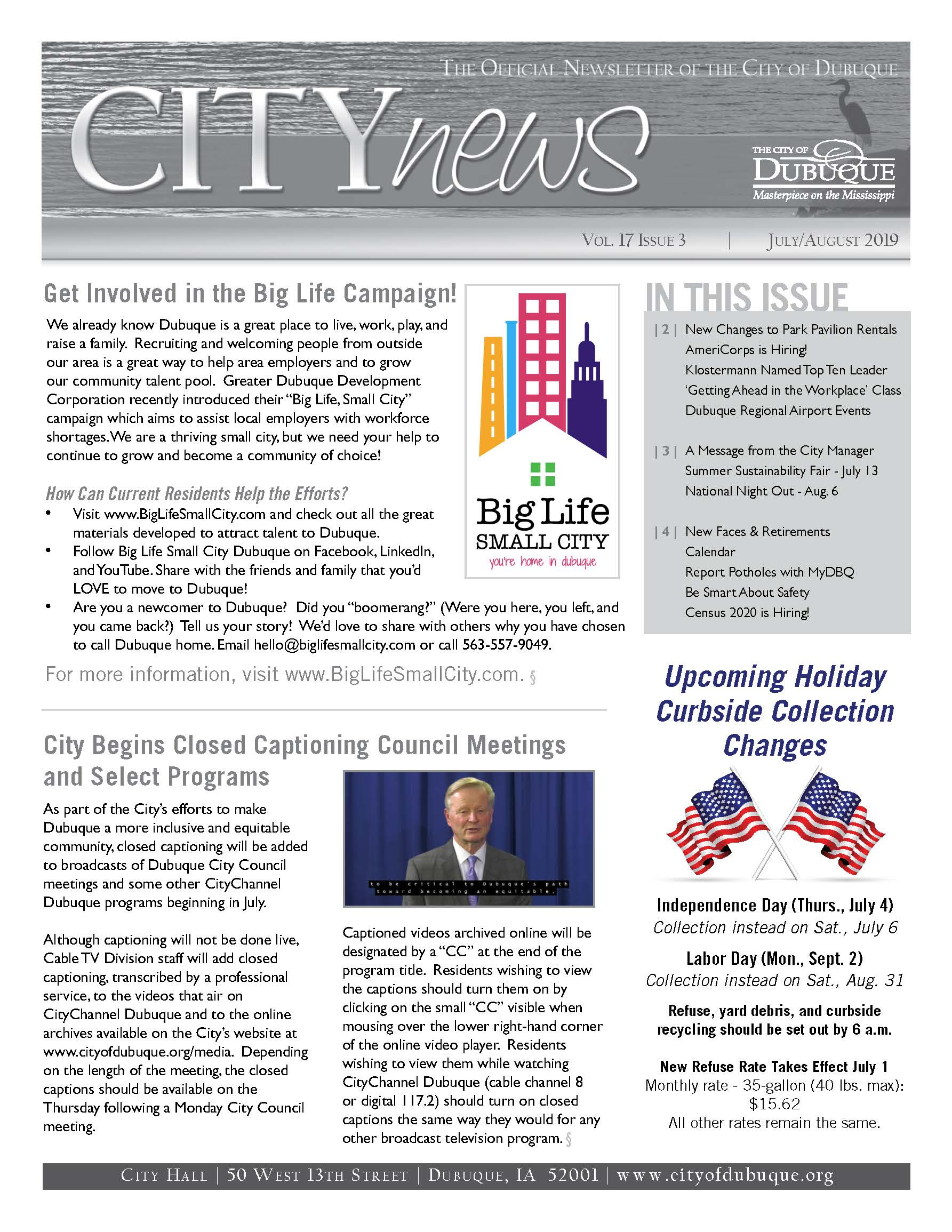 July/August 2019 City News