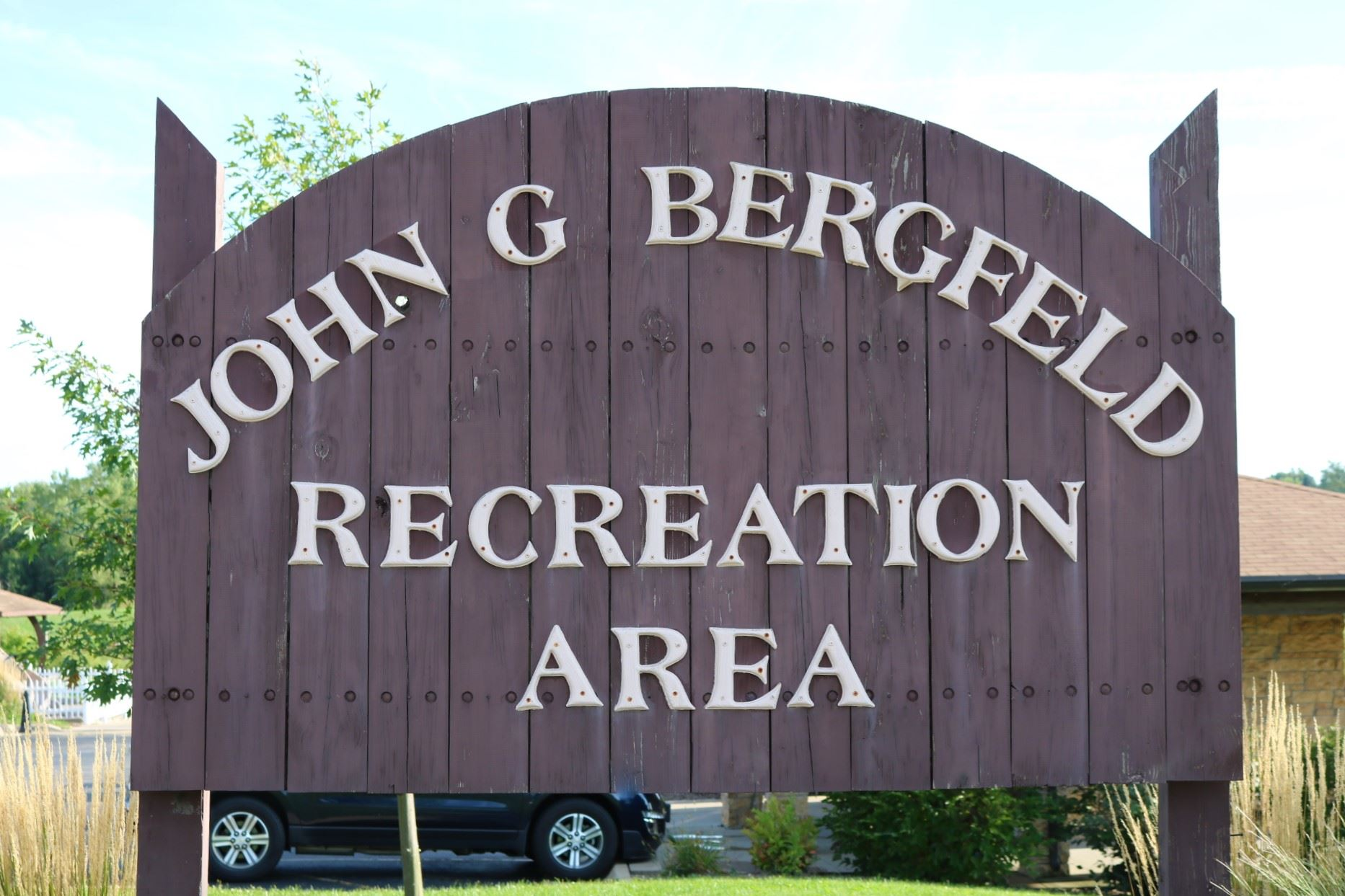 Bergfeld Recreation Area Entrance Sign