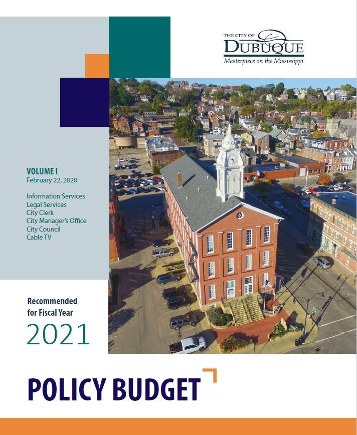 Policy Budget Volume I Cover Page